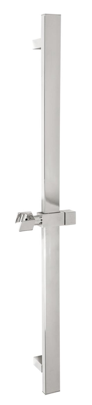 Kovový hranatý posuvný držák sprchy chrom