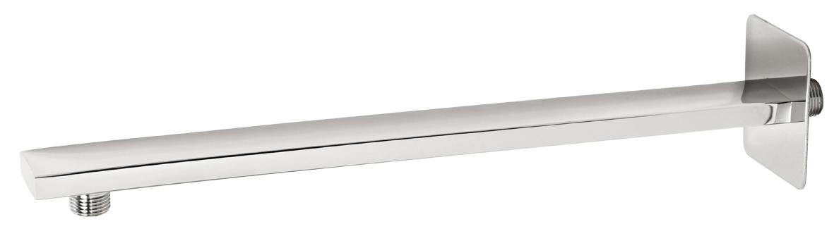 Rameno pevné sprchy hranaté ze stěny 400 mm chrom