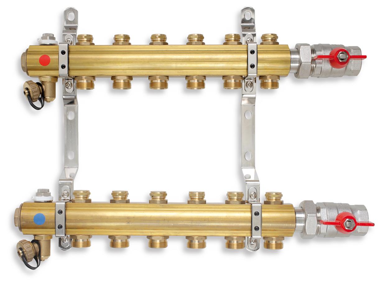 Rozdělovač s regulačními ventily 10 okruhů
