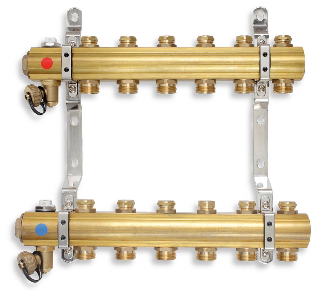 Rozdělovač s regulačními a mechanickými ventily 10 okruhů