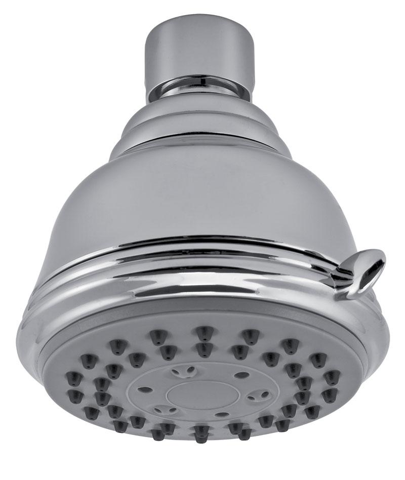 Pevná sprcha samočistící 3-polohová průměr 75 mm chrom
