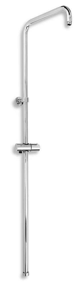 Sprchová tyč s jezdcem k baterii s horním a dolním vývodem