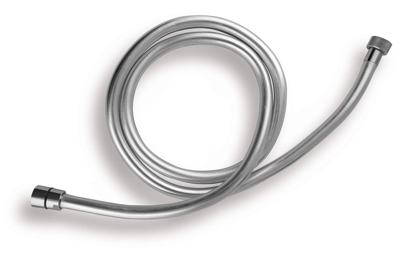 Sprchová hadice plastová, stříbrná 120cm