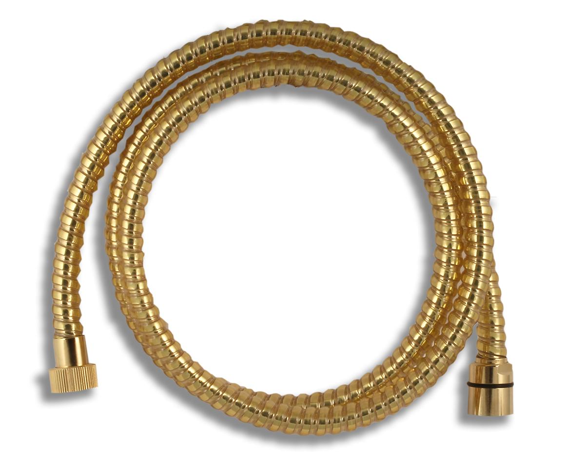 Sprchová hadice plastová 150 cm zlato
