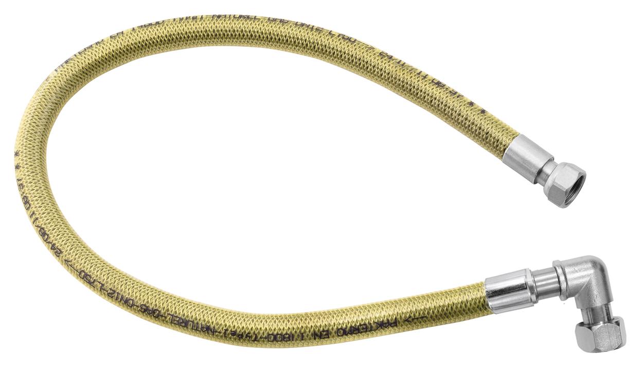 """Plynová připojovací hadice s kolínkem 1/2"""" MM-0,5m"""